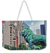 The Lions Of Chicago Weekender Tote Bag