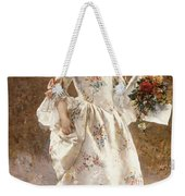 The Little Flower Girl  Weekender Tote Bag by Albert Raudnitz