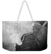 The Little Inchworm - B And W Weekender Tote Bag