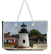 The Little Lighthouse At Mystic Weekender Tote Bag