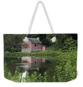 The Little Pink Cabin With Ripples Weekender Tote Bag