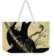 The Little Raven With The Minamoto Clan Sword Weekender Tote Bag