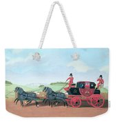 The Liverpool And London Royal Mail Coach, 1812 Oil On Canvas Weekender Tote Bag