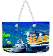 The Living Seas Signage Walt Disney World Weekender Tote Bag