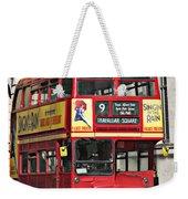 Vintage London Bus Weekender Tote Bag
