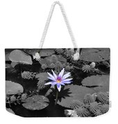 The Lone Flower Weekender Tote Bag