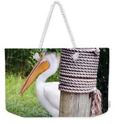 The Lone Pelican Weekender Tote Bag