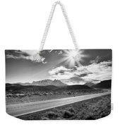 The Lonely Road Weekender Tote Bag