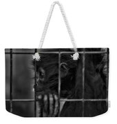 The Look Of Captivity Black And White Weekender Tote Bag