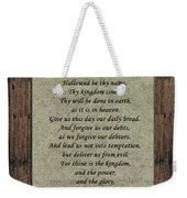 The Lord's Prayer Weekender Tote Bag