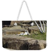 The Lounging Tiger 2 Weekender Tote Bag