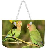The Lovebirds  Weekender Tote Bag