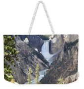 The Lower Falls Of Yellowstone River Weekender Tote Bag