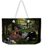 The Luncheon On The Grass With Dinosaurs Weekender Tote Bag