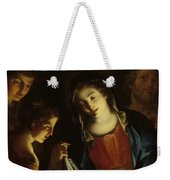 The Madonna Adoring The Infant Christ Weekender Tote Bag