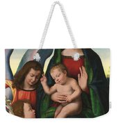 The Madonna And Child With The Young Saint John The Baptist And An Angel  Weekender Tote Bag