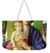 The Madonna Of The Trees Weekender Tote Bag by Giovanni Bellini
