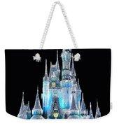 The Magic Kingdom Castle In Frosty Light Blue Walt Disney World Weekender Tote Bag