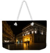 The Magical Duomo Square In Ortygia Syracuse Sicily Weekender Tote Bag