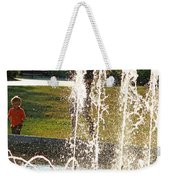 The Magical World Of A Boy With His Father Weekender Tote Bag