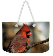 The Male Northern Cardinal Weekender Tote Bag