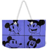 The Many Faces Of Mickey Weekender Tote Bag