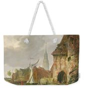The March Gate In Buxtehude Weekender Tote Bag by Adolph Kiste