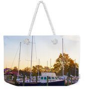 The Marina At St Michael's Maryland Weekender Tote Bag by Bill Cannon