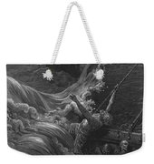 The Mariner As His Ship Is Sinking Sees The Boat With The Hermit And Pilot Weekender Tote Bag by Gustave Dore