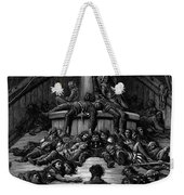 The Mariner Gazes On His Dead Companions And Laments The Curse Of His Survival While All His Fellow  Weekender Tote Bag by Gustave Dore