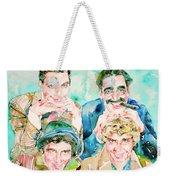 The Marx Brothers / Watercolor Painting Weekender Tote Bag