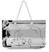 The Max Face In Black And White Weekender Tote Bag