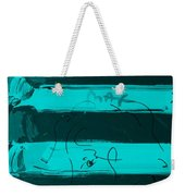 The Max Face In Turquois Weekender Tote Bag