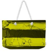 The Max Face In Yellow Weekender Tote Bag
