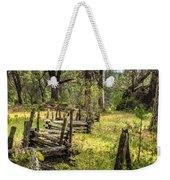 The Meadow Fence Weekender Tote Bag