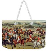 'the Meet' Plate I From 'fox Hunting' Weekender Tote Bag