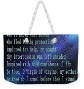 The Memorare Weekender Tote Bag by Barbara Griffin
