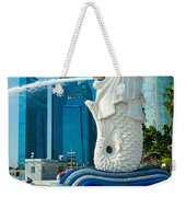 The Merlion  Fountain - Singapore. Weekender Tote Bag