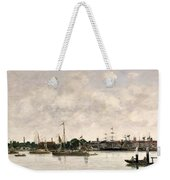 The Meuse At Dordrecht Weekender Tote Bag