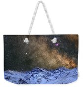 The Milky Way Over The High Mountains Weekender Tote Bag