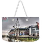 The Millennium Stadium With Flag Weekender Tote Bag