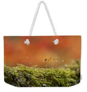 The Miniature World Of Moss  Weekender Tote Bag by Anne Gilbert