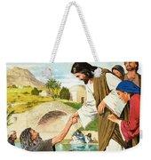 The Miracles Of Jesus  Making The Lame Man Walk Weekender Tote Bag