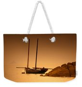 The Mont Saint-michel Bay At Sunset Weekender Tote Bag
