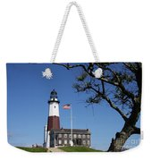 The Montauk Point Lighthouse Weekender Tote Bag