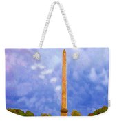 The Monument's Parking Lot Digital Art By Cathy Anderson Weekender Tote Bag