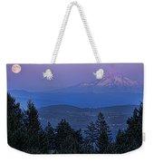The Moon Beside Mt. Hood Weekender Tote Bag