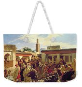 The Moroccan Storyteller Weekender Tote Bag by Alfred Dehodencq
