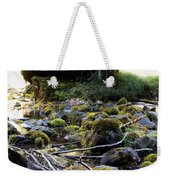 The Moss In The River Stones Weekender Tote Bag