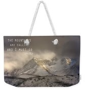 The Mountains Are Calling And I Must Go  John Muir Vintage Weekender Tote Bag